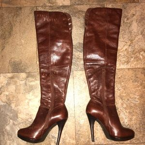 Aldo brown knee high boots size 6 (36) GUC